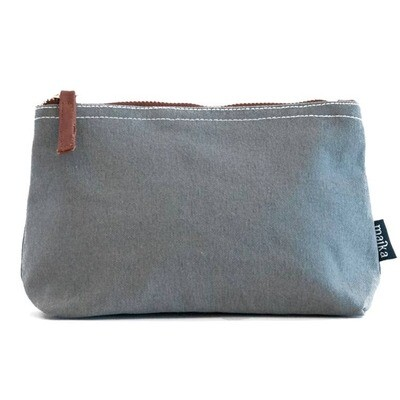 Waxed Ash Canvas Pouch Small