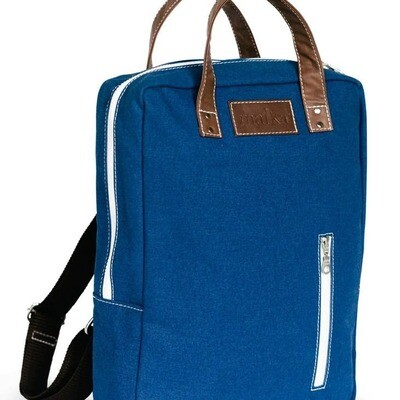 Zippered Backpack Navy Print