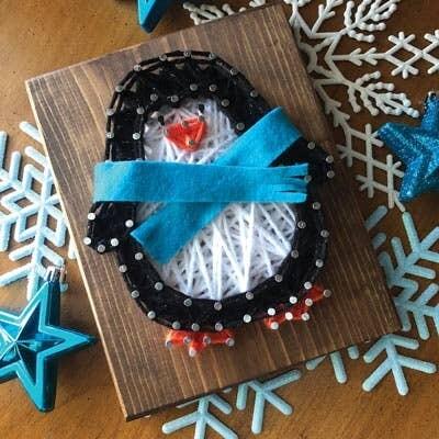 Penguin Mini String Art Kit DIY