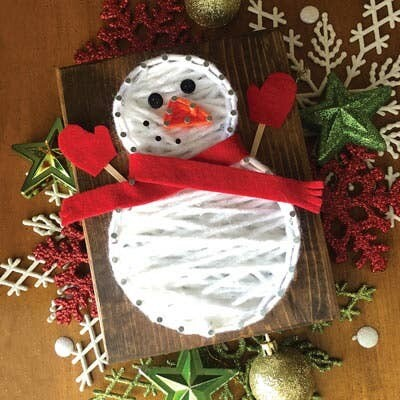 Snowman Mini String Art Kit - DIY Christmas