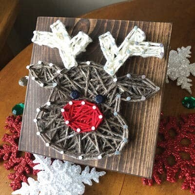Christmas Reindeer Mini String Art Kit DIY