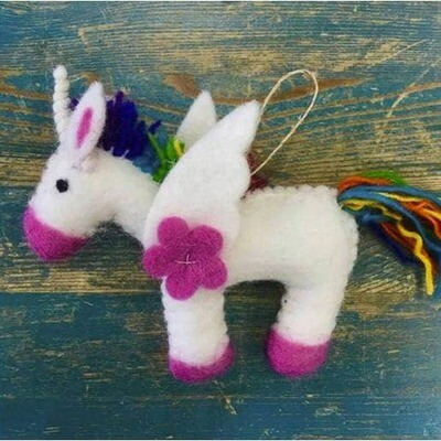 Ornament- Rainbow Unicorn