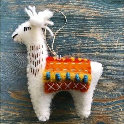 Colorful Llama Ornament