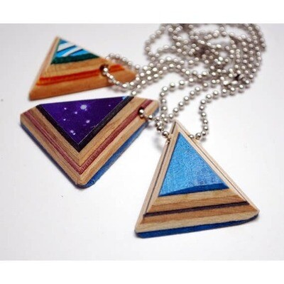 Triangle Pendant Skateboard Necklace