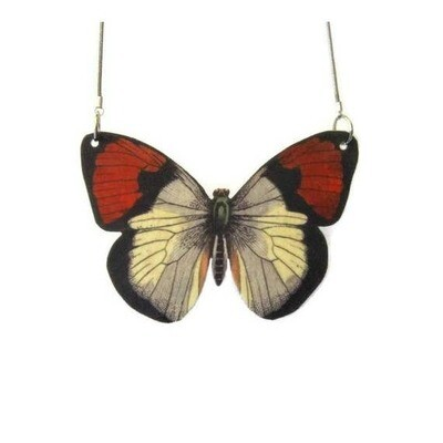 Red Wing Butterfly Pendant Necklace