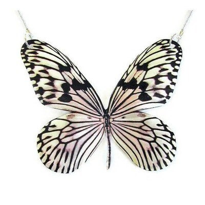 Rice Paper Butterfly Replica Necklace Large