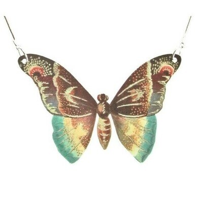 Butterfly Moth Pendant Necklace Large