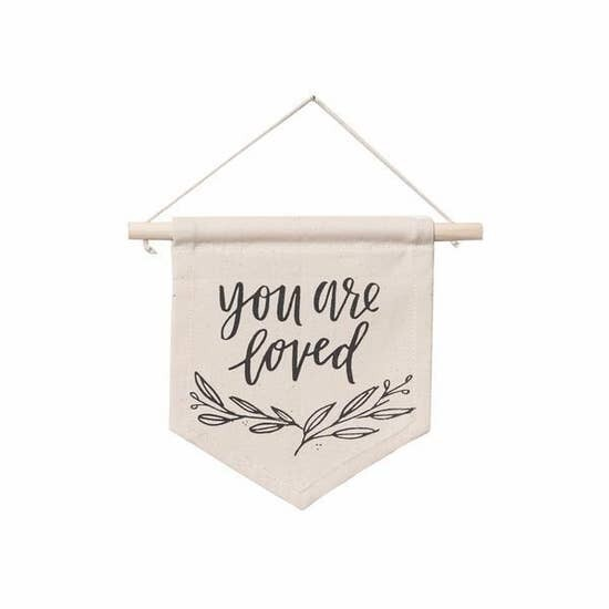 Handmade You Are Loved Hang Sign