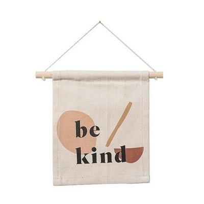 Handmade Be Kind Hang Sign