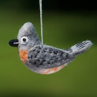 Tufted Titmouse Woolie Bird
