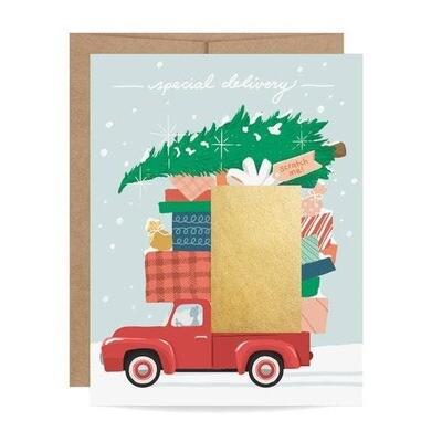 Red Truck Scratch-off Card