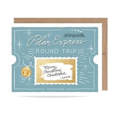 Polar Express Scratch-off Card