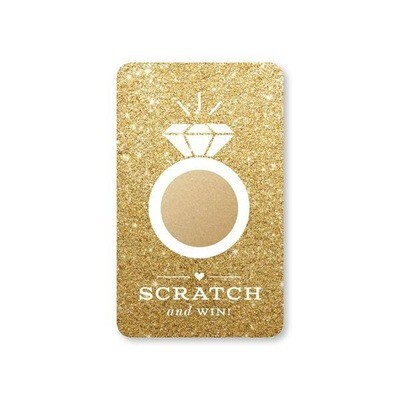 Faux Gold Glitter Bridal Scratch-Off Game