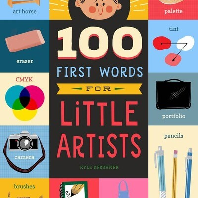 100 First Words for Little Artists Kids Book
