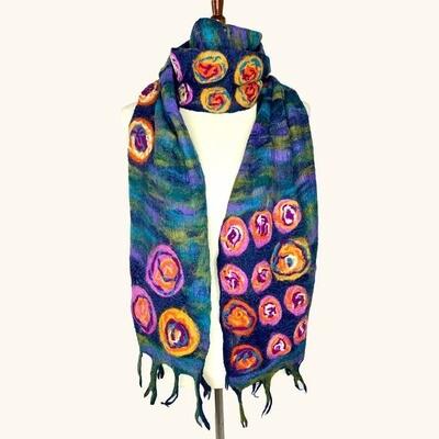 Monet Inspired Wool & Silk Scarf