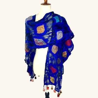 Merino Wool & Silk Handmade Royal Scarf Wrap