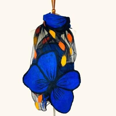 Morpho Butterfly Scarf