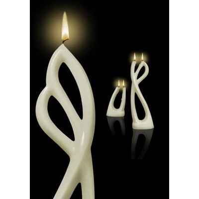 Ava White Multiflame Candle