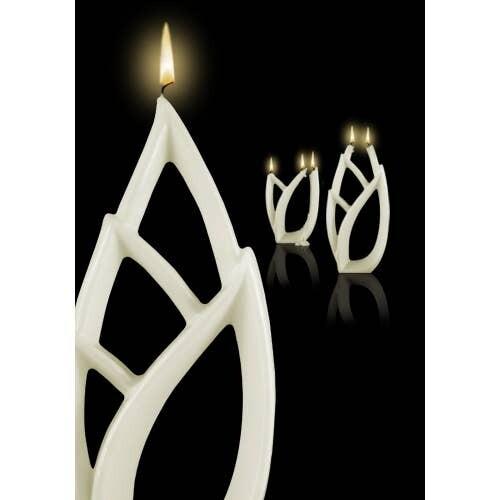 Livia White Multiflame Candle