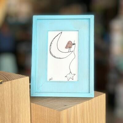 3x3 Sea Glass Birds