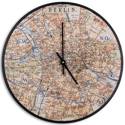 Berlin Birch Wood Wall Clock