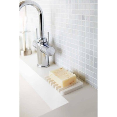 White Flow Self Draining Soap Tray