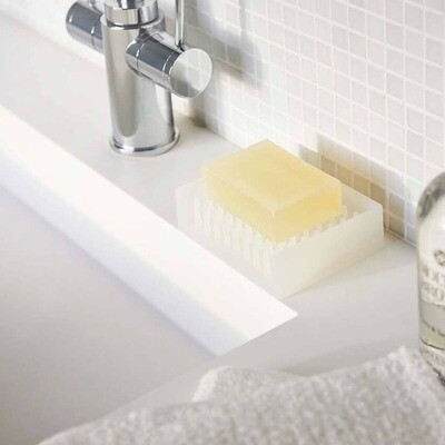 Float Self Draining Soap Tray Clear