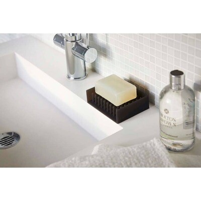 Black Flow Self Draining Soap Tray