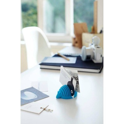 Blue Armadillo Business Card Holder