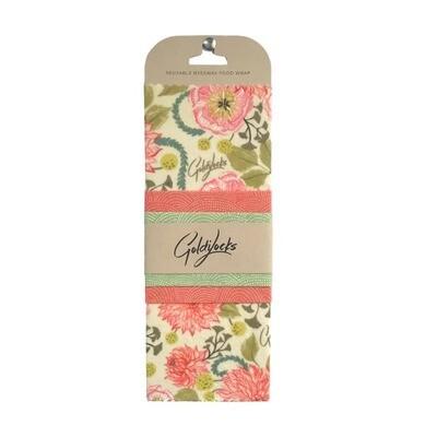 Compostable Food Wrap (3) Pink Floral