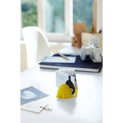 Yellow Hedgehog Business Card Holder