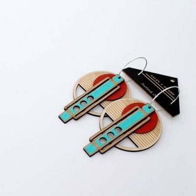 Frank Lloyd Wright Earrings Red