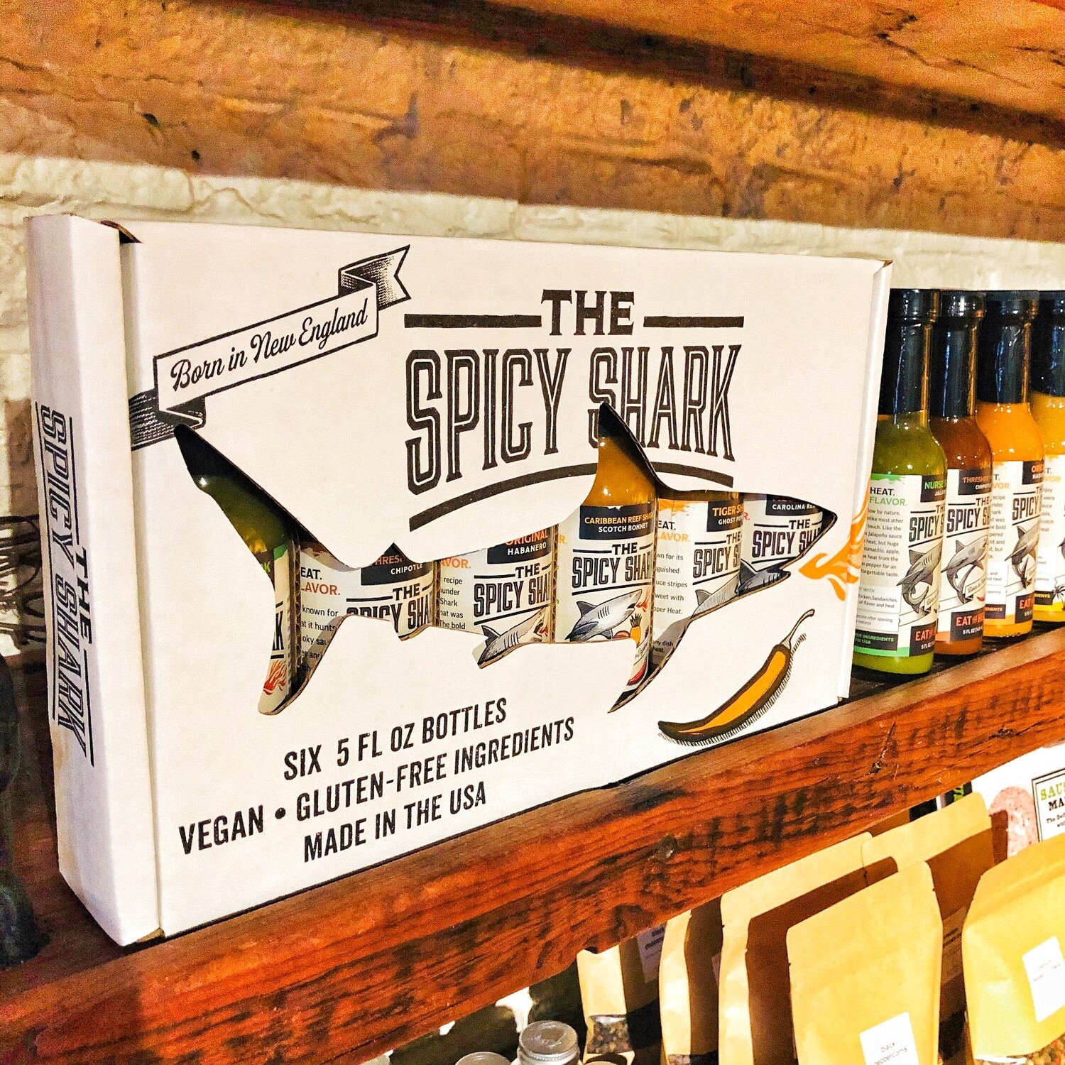 Spicy Shark Hot Sauce Gift Box