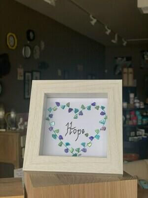Seaglass Hope Heart