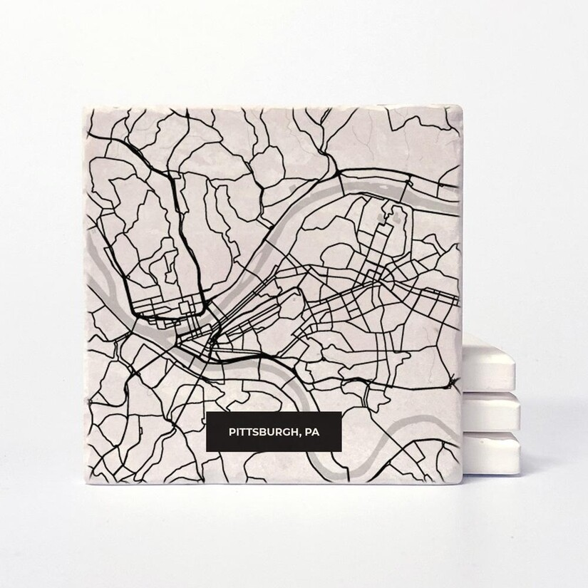 Pittsburgh Map Coasters