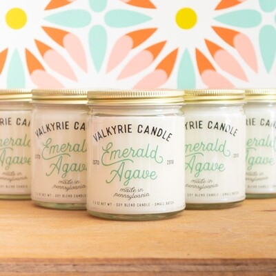 Emerald Agave Candle