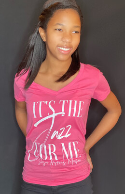 It's The Jazz For Me Pink-V-Neck