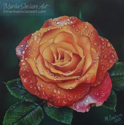 """Million Drop Rose"" Original painting"