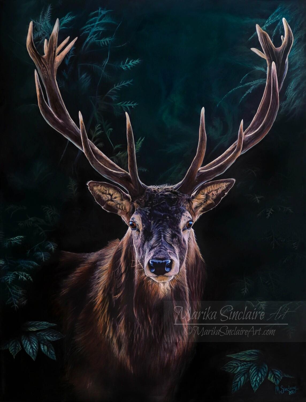 """""""Deer"""" Original painting"""