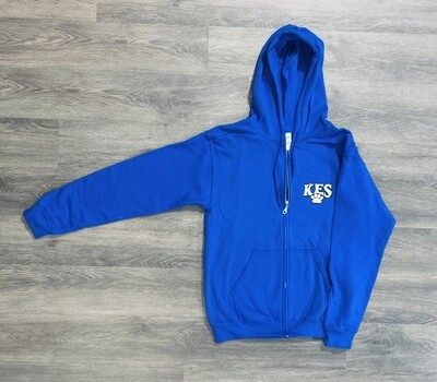 Youth KES Paw Print Zip-Up Hoodie