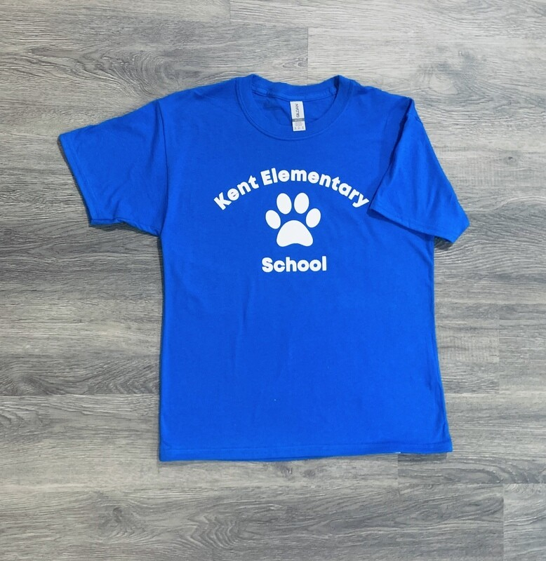 Youth Kent Elementary School Paw Print Short Sleeve