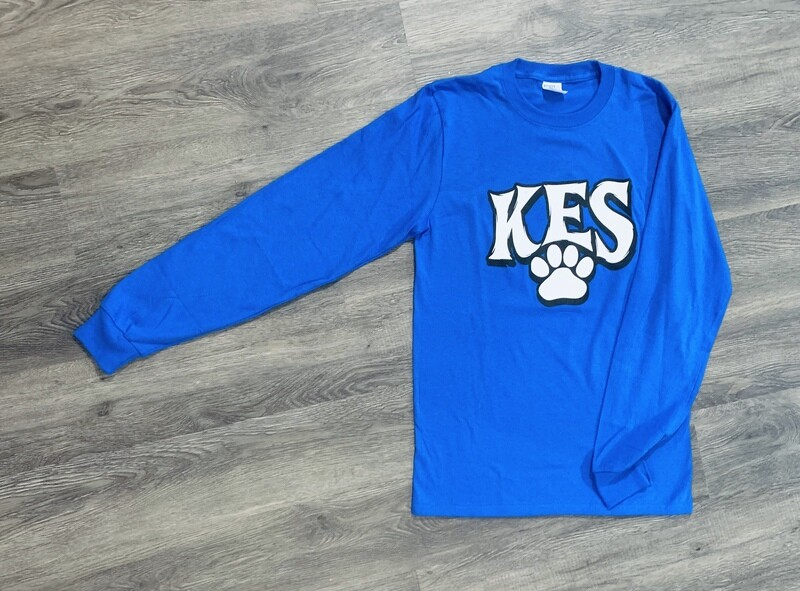 Youth KES Paw Print Long Sleeve