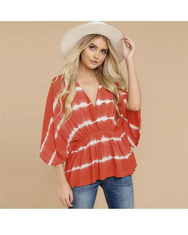 Tye Dye SunRise Blouse
