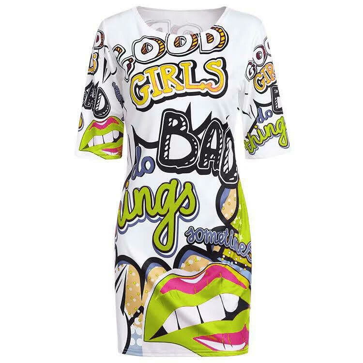 Good Girl Bad Girl Tee Shirt Dress