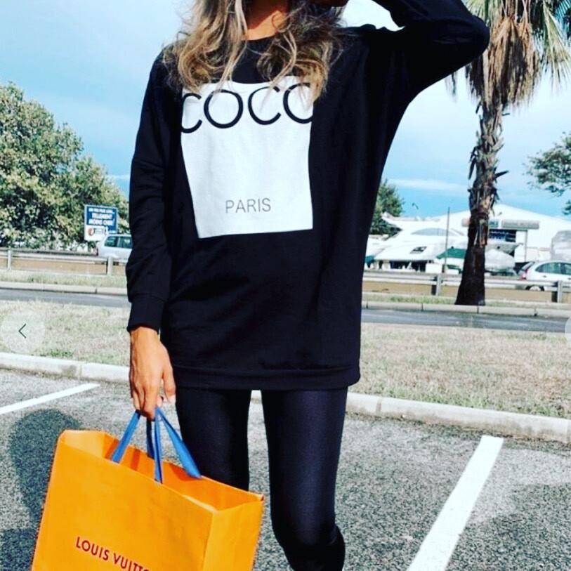 CoCo Printed Oversized Sweatshirt