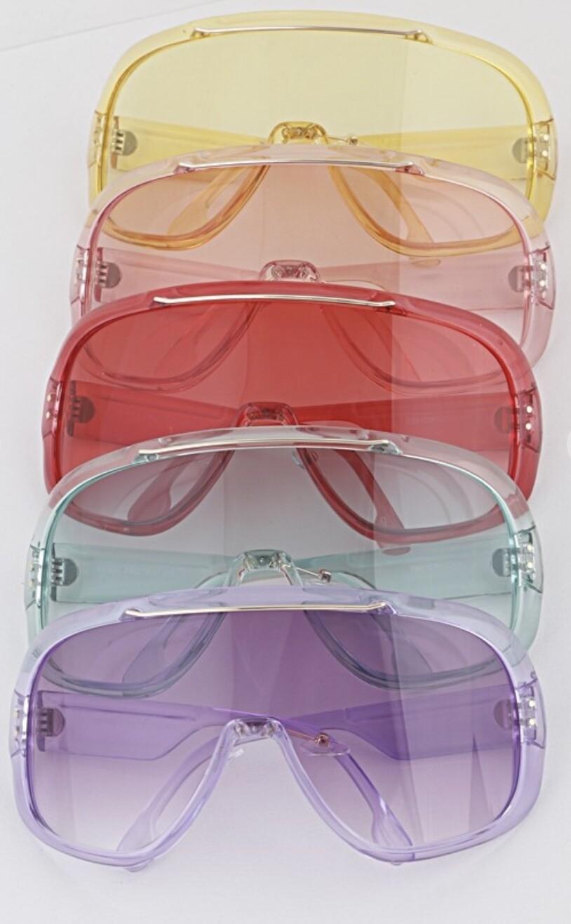 Transparent Frame Shields Shades