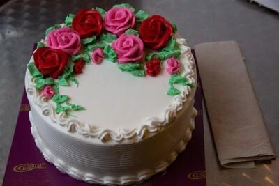 Whip Cream Cake - Flowers