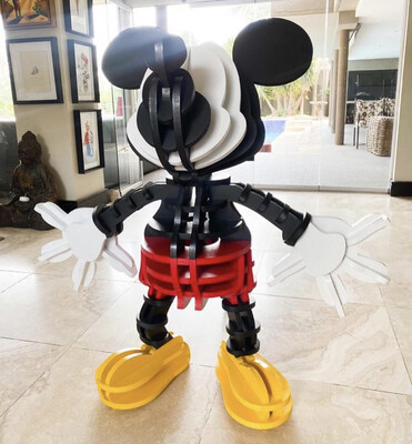 Fringe Wooden Mickey