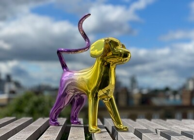 Mini Marsipan - Gold and Purple by Agnetha Sjögren