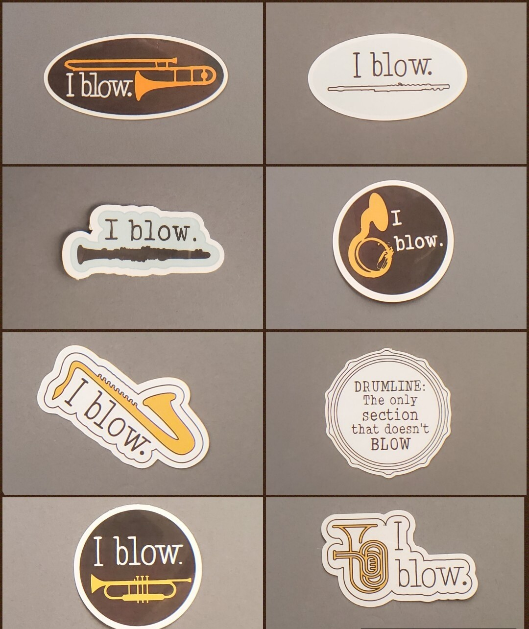 """I blow"" Sticker Series"